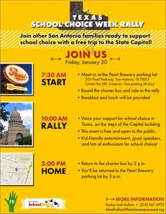 Texas School Choice Week Rally - January 30, 2015   San Antonio Charter Moms