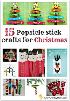 ~ 15 Popsicle stick crafts for Christmas