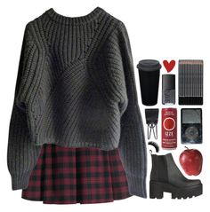 """сет для админов holy look :)"" by emilypondng ❤ liked on Polyvore featuring H&M, Isabel Marant, Pier 1 Imports, NARS Cosmetics and Pour La Victoire"