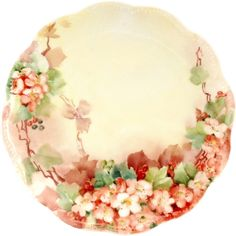 Haviland Limoges Hand Painted Cherry Blossoms Plate Circa Early 1900s