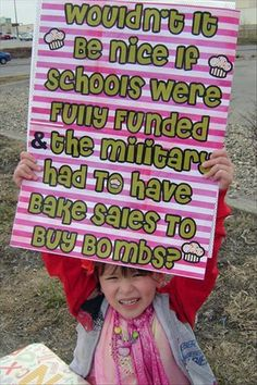 No, the military should also be fully funded, as they fought & are dighting for the freedom to have bake sales and your right to a stupid opinion that they don't need to be fully funded. We need to quit funding lazy people who don't want to work and live off of the taxpayers.
