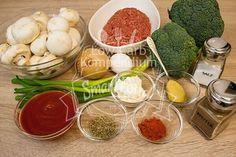 Die Zutaten für die Low Carb Pilzpfanne