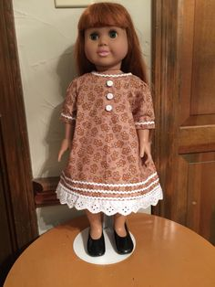 A personal favorite from my Etsy shop https://www.etsy.com/listing/482951828/ag-gingerbread-dress