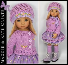 """* Lilac Spring * Outfit Little Darlings Dianna Effner 13"""" Maggie & Kate Create #DiannaEffner"""