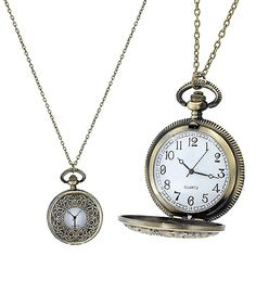 Vintage Pocket Watch Necklace+Free Scarf by Haute Chic Webstore