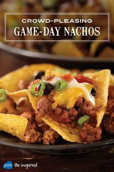 Game-day recipe: Everyone loves nachos. This recipe includes the basics, but adds pork and smokiness from chipotle chiles in adobo sauce.