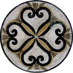 Items similar to Medallion Backsplash Stone Mosaic Marble Wall or Flooring Decor Design - Flowers - sun head - Medusa head - round medallion on Etsy Marble Wall, Marble Mosaic, Stone Mosaic, Mosaic Wall, Mosaic Glass, Mosaic Tiles, Mosaic Birdbath, Stained Glass, Mosaic Crafts