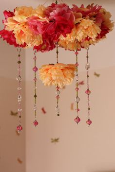 Your Custom Hand Beaded Flower Baby Mobile or Chandelier.  Not a DIY/ beautiful yet too pricey for me. Nevertheless, I love it!!