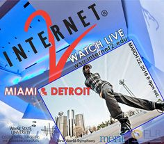 CFPCA faculty and staff members Gary Cendrowski, Thomas Court, Kelly Gottesman, Kypros Markou and Christopher Scalise are organizing Wayne State's co-hosting of a multi-site dance performance between Detroit and Miami that can be viewed online 8pm March 22 http://cfpca.wayne.edu/news/cfpca-co-hosts-internet-2-multi-site-performance-18943