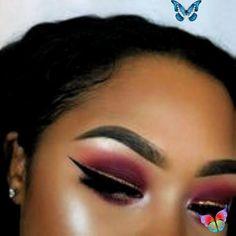 #Black #Crimson #Fall #Glitter #Idee #Liner  Prom Makeup For Red Dress black C Red Lip Makeup Look Black Women black Crimson Dress fall glitter idee liner Makeup Prom Red<br> Red Dress Makeup, Red Lips Makeup Look, Fall Makeup Looks, Black Girl Makeup, Girls Makeup, Glam Makeup, Maroon Makeup, Burgundy Eyeshadow, Burgundy Makeup