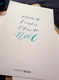 Citations calligraphiées - Camaïeu - Calligraphique - Le Studio