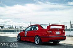 red sedan track e36