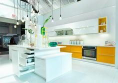 Ikea's New Sektion Cabinets - Interior Design Show 2015. Hmmm, should I put a pop of yellow somewhere in my kitchen?