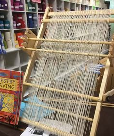 Schacht tapestry loom warped up and ready for weaving.