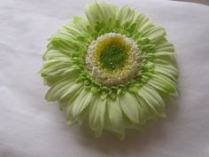 Green Flower Hair Clip by Creationsbylaceyjane on Etsy, $7.00