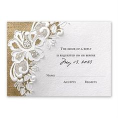 Easily personalized and shipped in a snap! Enjoy the look and feel of luxurious embossing for a great price. The Lacy Dream reception card is a great place to start. Wedding Invitation Wording Templates, Unique Wedding Invitation Wording, Create Wedding Invitations, Wedding Reception Cards, Marriage Reception, Wedding Reception Invitations, Vintage Wedding Invitations, Wedding Invitation Cards, Wedding Cards