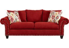 Shop for a Algoria Heights Algerian Red Sofa at Rooms To Go. Find Sofas that will look great in your home and complement the rest of your furniture.
