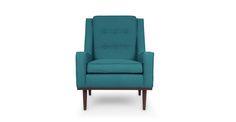 Nina Ocean Teal Armchair - Lounge Chairs - Article | Modern, Mid-Century and Scandinavian Furniture