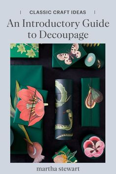 Use our guide to decoupage and the tools and materials you need to get started decoupaging anything in your home for an updated and detailed look in a few simple steps. Plus, learn the history behind this ornate and stunning craft. #marthastewart #crafts #diyideas #easycrafts #tutorials #hobby