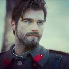 Kivanc Tatlitug as First Lieutenant Kurt Seyit Eminof in Turkish TV. series Kurt Seyit ve Sura 2014