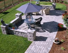 interesting patio shape - to get around existing trees. | favorite ... - Pavers Patio Ideas