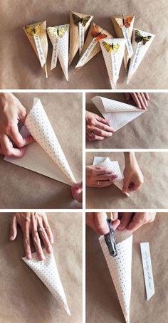 Cheap Wedding Favor ♥ DIY Favor Bags Tutorial | Ucuz Nikah Sekerleri ♥ El Yapimi Hediye Paketleri, Nikah Sekerleri
