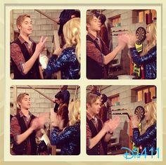 "Throwback Thursday Photo: Behind The Scenes Of Olivia Holt And Austin North Working On ""I Didn't Do It"" January 9, 2014"
