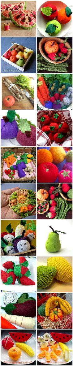Loads of fruit and veg patterns