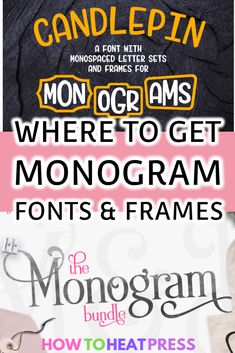 Best Monogram Font – Cricut Monogram Fonts