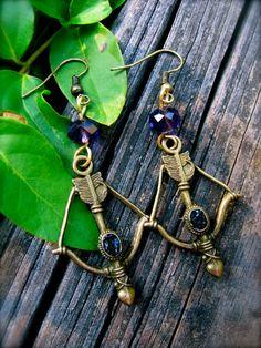 Goddess Artemis Earrings by EireCrescent on Etsy, $12.99
