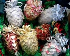 Image result for FOLDED FABRIC CHRISTMAS ORNAMENTS