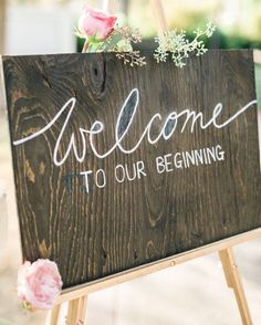 Welcome one & all! Loving this simple wedding sign. Like if you love it…