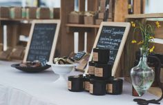 Handmade soap display, craft show table, farmers market, rustic crates www.soapandsunshine.com