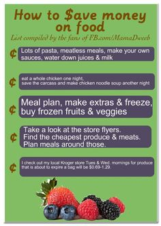 How to save money on food. Photo copyright by Mamadweeb.com - please repin with attribution