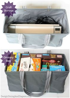 """Thirty-one large utility totes for shopping or your kids' """"gaming"""" stuff so family room stays uncluttered Thirty One Uses, Thirty One Gifts, Thirty One Organization, Large Utility Tote, Large Tote, Thirty One Business, Thirty One Consultant, 31 Gifts, 31 Bags"""