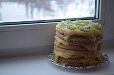 Cake in snowy day