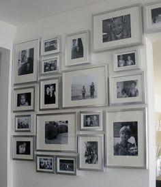 Silver Frames. So pretty.
