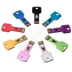 4GB flash disk ve tvaru klíče - 9 barev