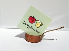 'Strawberry loves Cream' Greetings Card