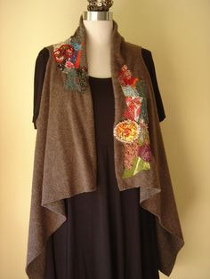 Gayle Ortiz: embellished fleece vest