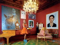 A look inside the St. Emmeram Palace, the stunning Thurn und Taxis castle: For his book on my family's castle, our friend Todd Eberle photographed me in my mother's Christian Lacroix couture and heirloom tiara (the one and only time I've worn it). Thurn Und Taxis, Vogue Living, Royal Jewels, Christian Lacroix, Belle Epoque, Architecture Details, Royalty, Germany, Inspiration