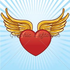 Heart With Wings Tattoo Graphic | Tattooshunt.
