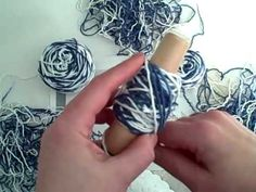 How to Wind a ball of yarn on the nostepinne by Noreen Crone-Findlay (c)