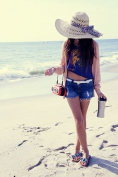 perfect for a day on the beach #summer #fashion
