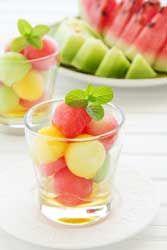 Salade de Melons et Pastèque au Miel