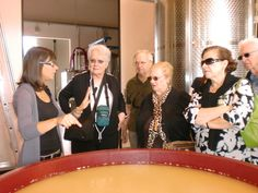 La Tondera Winery Hostess Elena Villanova describes the fermentation process of Prosecco to Pat & George Edmonds, Angel Algeri, Alexandra De Stefanis & Frank Cerullo during the 2010 Sarasota Sister Cities delegation visit to Treviso Province