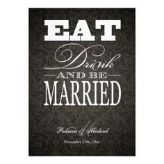 This DealsEat Drink and be Married - Elegant Black Damask Personalized InvitesThis site is will advise you where to buy