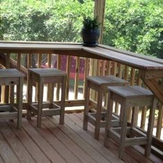 Screened in porch built-in bar with custom stools, outdoor bar saves ...