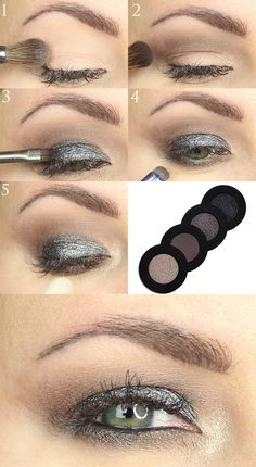 Melt Cosmetics Gun Metal Stack Tutorial - Great for Hooded Eyes. This is a beautiful sparkly, cool-toned grey and taupe eyeshadow tutorial. Hooded Eye Makeup, Hooded Eyes, Eye Makeup Tips, Makeup Blog, Smokey Eye Makeup, Eyeshadow Makeup, Makeup Ideas, Bright Eye Makeup, Subtle Makeup