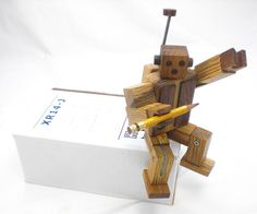 Wood Robot  Poseable Rearrangeable and All Kinds by HappyBungalow, $95.00